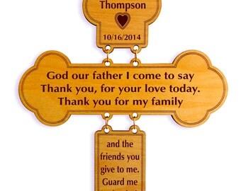 Bedtime Prayer Custom Decorative Cross,Daily Child Prayer,Child Room Wall Decor ,Gift for Any Occasion like Baptism, Birthday,Holy Communion