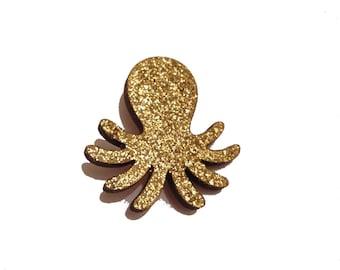 Glittery Octopus Brooch