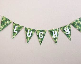 St. Patrick's Day Shamrock Lucky Banner. St. Patrick's Day Decor. Shamrock Banner. Lucky Banner. St. Paddy's Day. St. Paddy's Decor.