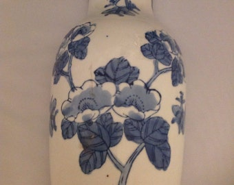 Large Blue and White Wall Vase Sale