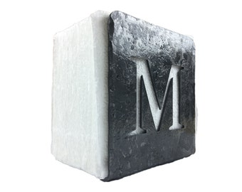 Forged Iron Napkin Holder with Monogram - Square Top