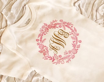 Monogram onesie. New Baby Oneise. baby name onesie.  Customized baby coming home. Baby bring home outfit. Baby girl. baby shower gift.