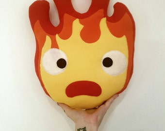 Studio Ghibli - Calcifer - Plush Pillow Toy - Howl's Moving Castle