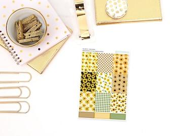 fb23 // Sunflower » Full Box Planner Stickers - Fits Vertical Erin Condren Planners