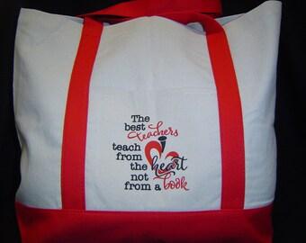 TEACHER TOTE, teacher gift, custom tote, custom teacher tote, personalized teacher bag, personalized teacher tote, unique teacher gift