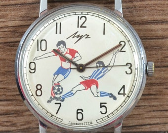 RARE Vintage Soviet Ussr Russian Watch LUCH In Working Order