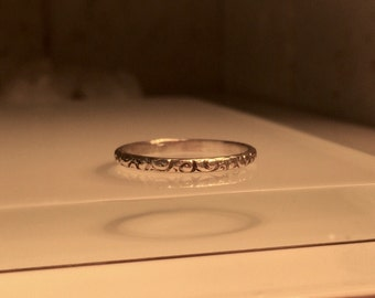 Handmade Silver Ring./Handmade Solid Sterling Silver Stacking Ring ./Free US Shipping.