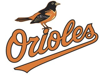 Baltimore Orioles Logo Vinyl Decal Many Sizes Available Buy 2 get 1 free of equal or lesser size!