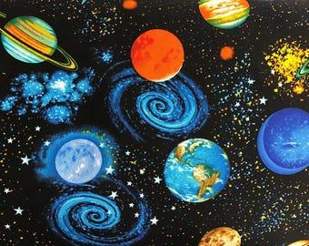 Solar System Planets curtain valance