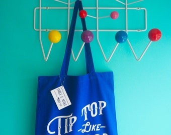 Tip Top Like Soda Pop Tote Shopper Bag - Blue