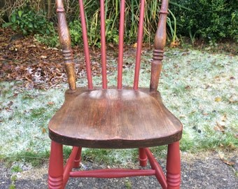 Chair -  Rustic Style Wooden Chair - Upcycled - For Collection Only