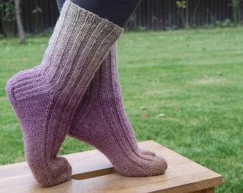 Knitted Wool socks | Hand Knit Socks | Sheep Wool Socks | Leg warmers | Bed socks | Women clothing | Size: EUR 37/38; UK 4-5; US 6-7