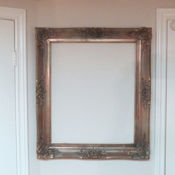Empty Frames For Wall Decor : Picture frame fireplace home decor rose gold shabby empty