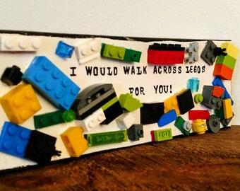Lego Art: Walk Across Legos for you