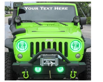 Windshield Decal Etsy - Custom windo decals for jeeps