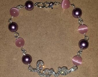 Beaded LOVE Link Bracelet
