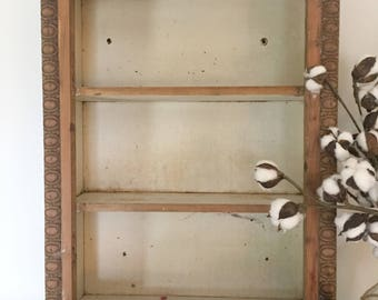 Antique Salvaged Wood Hanging Shelf