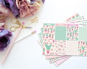 Prickly Pots -- Simple Kit -- Matte Planner Stickers