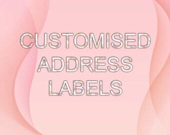 Personalised Address Labels - Return address