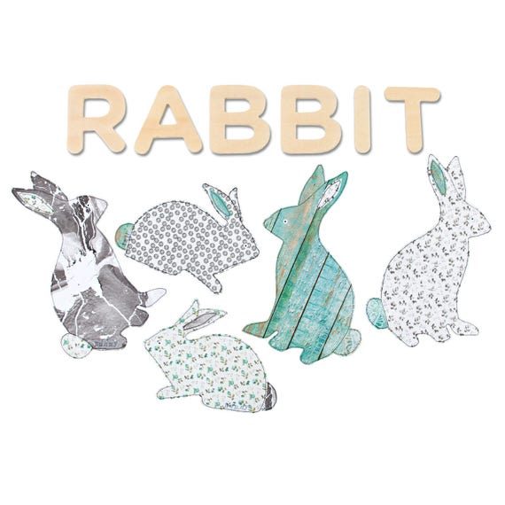 bunny rabbit wall stickers rabbit decal rabbit wall art fabric rabbit wall stickers by spin collective