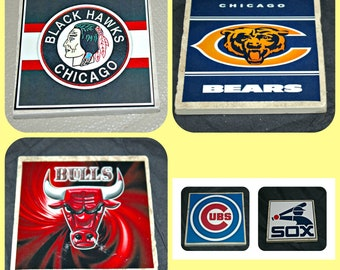 Chicago Sports - Chicago Bulls - Chicago White Sox - Chicago Cubs - Chicago Bears -Chicago Blackhawks - Chicago Gifts - Chicago Coasters