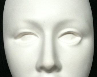 Face Mask Sculpture Unpainted Plaster Art & Craft Project for Painting #201658
