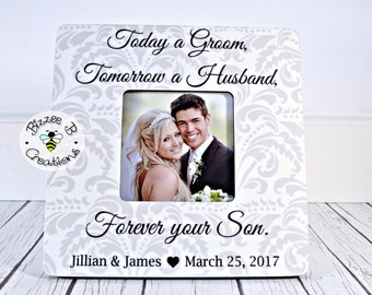 ON SALE Today a Groom Picture Frame, Parents Gift, Mother of the Groom, Father of the Groom, Parents Wedding Thank You Gift, Parents Frame