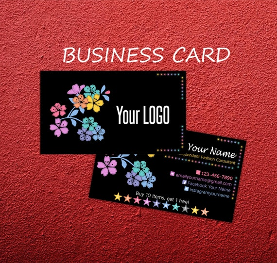 Business Cards Branding Buy 10 Get 1 Free Chalkboard by Znaidy