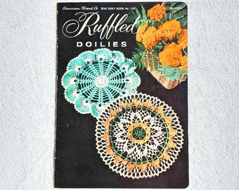 Vintage Ruffled Doilies Star Doily Book No. 143 American Thread Co.