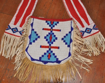 Cheyenne-Style-Fully-Beaded-Bandolier-Bag-Braintanned-Leather
