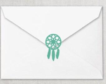 Any Color Dreamcatcher Envelope Seal, Dreamcatcher Invitation Sticker, Dream Catcher Sticker, Boho Envelope Seal,  Wild One Envelope Seal