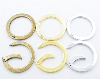Bulk 2PCS.36MM/50MM Bronze Golden Silvery Flat Spring Gate Ring Spring Ring Clasp Snap Ring Screw Spring Ring