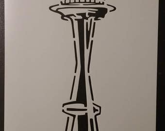 Seattle Space Needle Custom Stencil FAST FREE SHIPPING