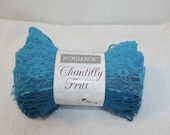 Sundance Chantilly Frill, Lace Yarn, Sashay Yarn, One Skein Scarf Yarn, Frilly Yarn, Sashay Scarf Yarn, Turquoise Yarn, Aqua Sashay Yarn