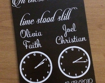 In This Moment Time Stood Still In These Moments Wooden Wall Plaque Baby Clocks Precious Children Gift 8x12 Inch