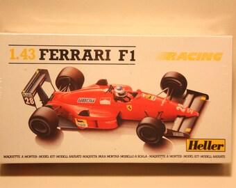 Vintage Heller Ferrari F1 Plastic Model Kit