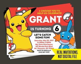 Pokemon Invitation - Pokemon Birthday Invitation