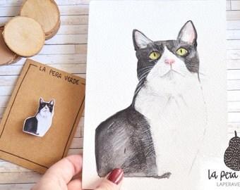 Custom portrait , pet portrait, pet watercolor portrait, keychain pet, brooch pet, dog portrait, cat portrait, custom dog, custom cat,