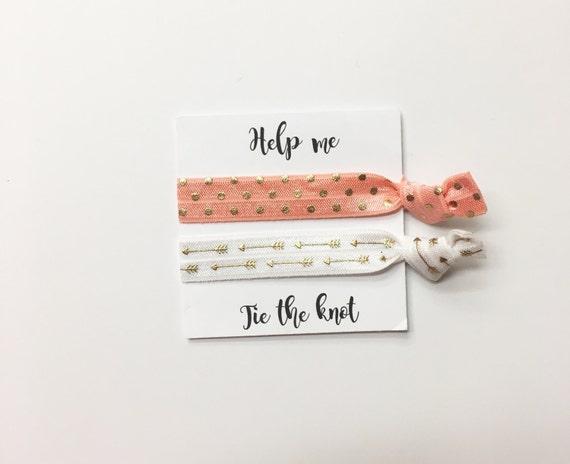 Bridesmaid hair ties//hair tie card, hair tie favors, bridesmaid hair ties,bachelorette party, party favor, bridesmaid hair ties