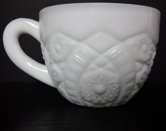 Vintage Milk Glass Tea Cup