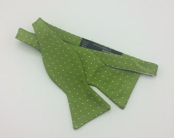 Vintage Polo for Ralph Lauren all silk green bowtie