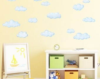 Decowall DW-1702 Clouds Wall Stickers