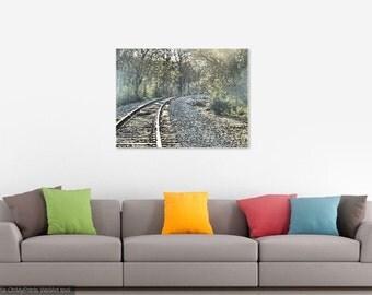 Railroad Tracks, Wall Art, Canvas Print