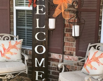 Welcome Wooden Front Porch Patio Sign