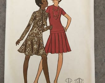 1970's butterick sewing pattern dress 2 option size 40 bust 44 5950