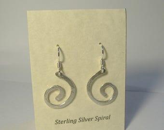 Sterling Silver Spiral Earrings E-23 (med)