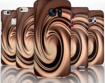 BG0052 Plastic hard case print, personalized/ custom/ personalised phone protective case chocolate swirl
