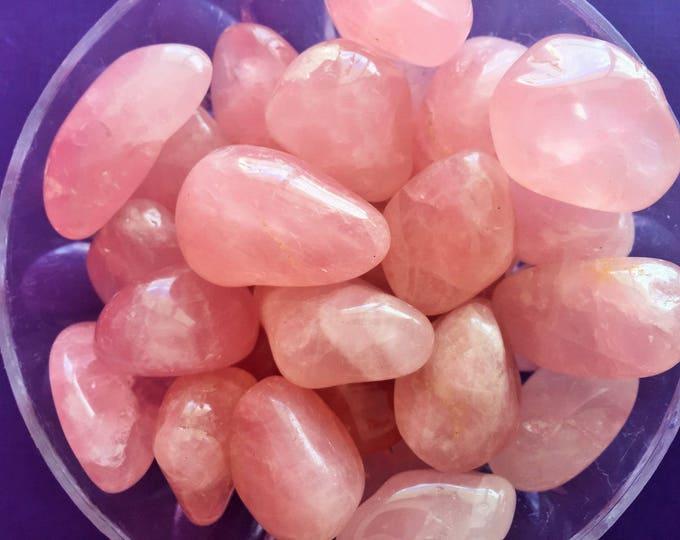 Rose Quartz, Rose Quartz Crystal / Healing Crystals and Stones infused w/ Reiki