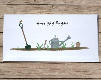In The Garden Greetings Card - Happy Birthday, Thank You, Blank