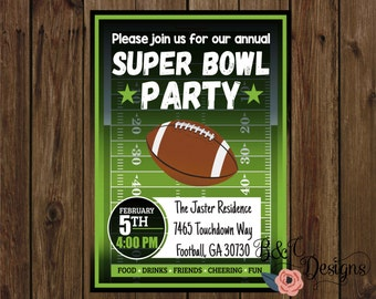This is an image of Adaptable Super Bowl Party Invitations Free Printable